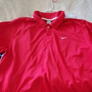 NIKE RED POLO